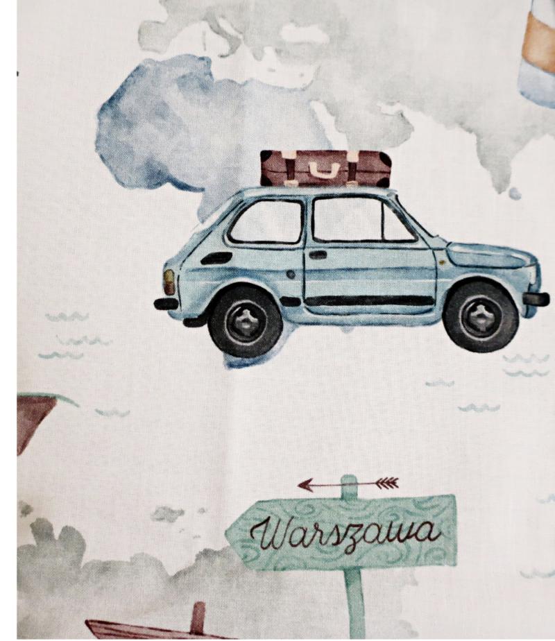 Bloomersy bawełniane dla chłopca w samochody