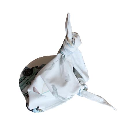 chusteczka z daszkiem bawełniana