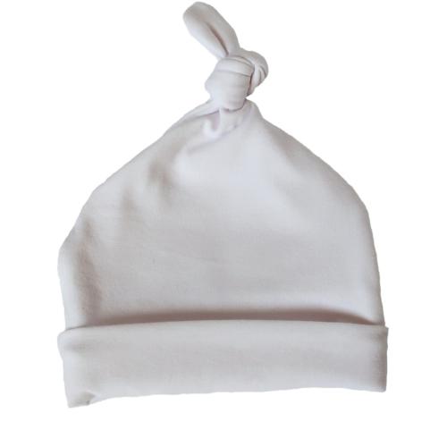Czapeczka biała dla noworodka