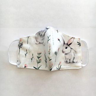 maseczka ochronna bawełniana w króliki