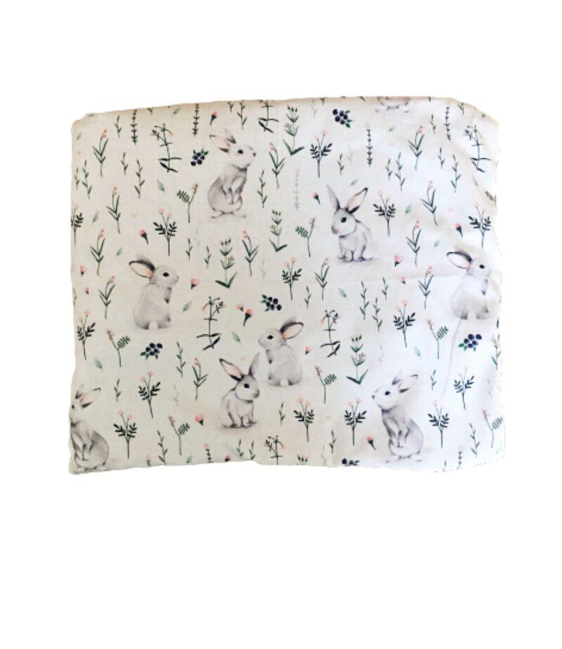 Poduszka płaska dla dziecka w króliki