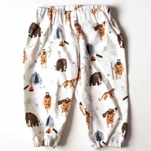 Spodnie dresowe dziecięce w jaskiniowców i mamuty
