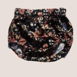 bloomersy dziewczęce czarne kwiaty vintage