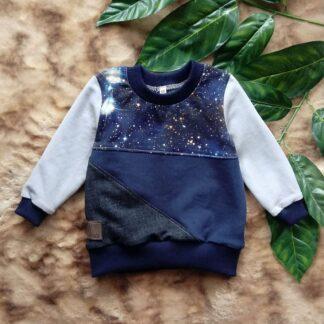 granatowa bluza dla chłopca dziecięca galaktyka